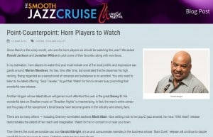 Point-Counterpoint: Horn Players to Watch Gerald Albright, Jazz Musician
